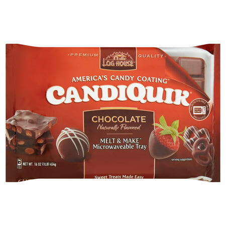 - (2 Pack) Log House Chocolate CandiQuik Coating 16 oz