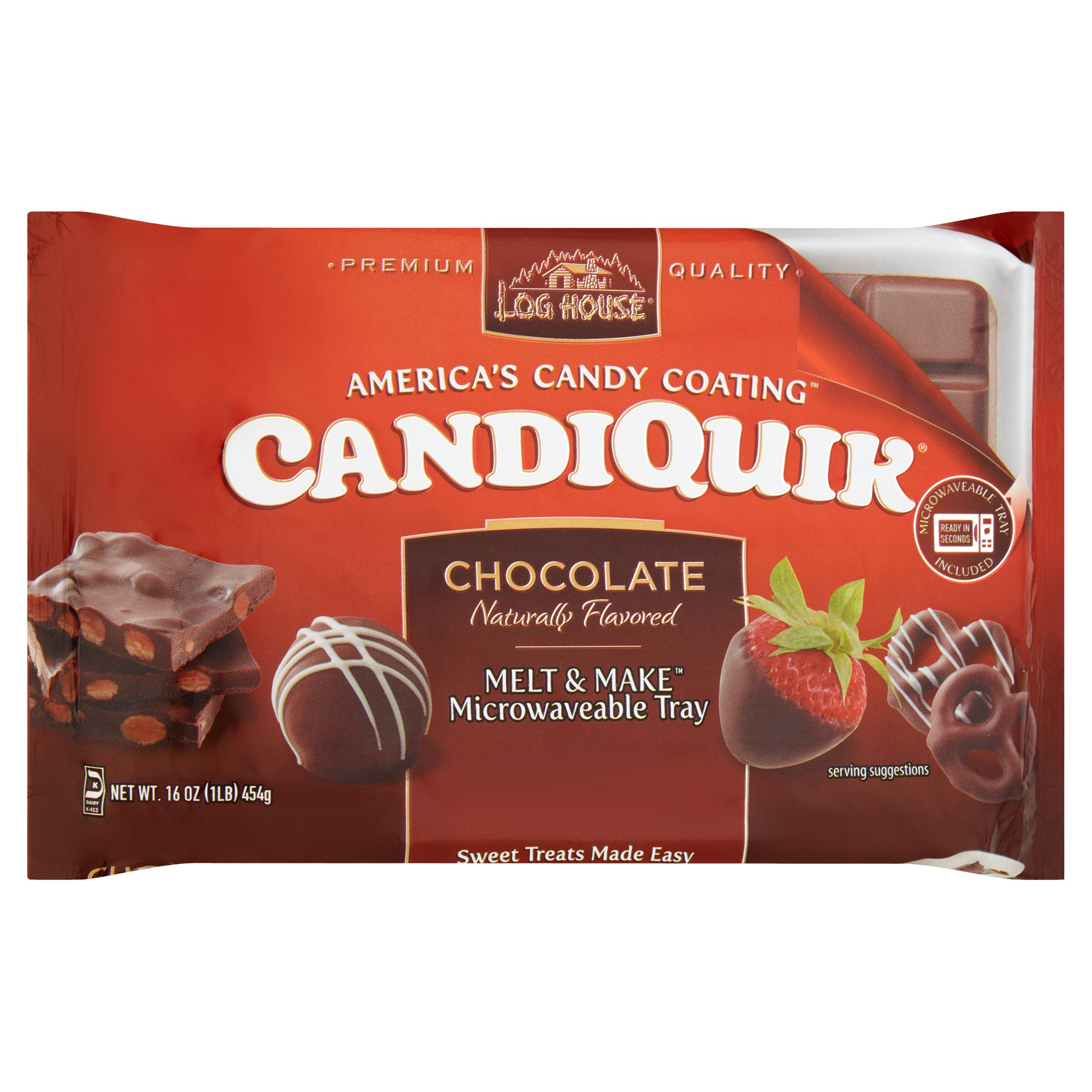 Log House Chocolate CandiQuik Coating 16 oz