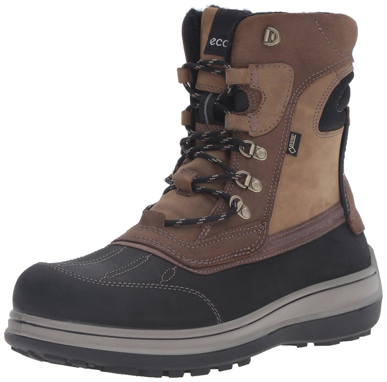 ECCO Men's Roxton Gore-Tex Snow Boot, Black Moonless, 45 EU 11-11.5 M US by Ecco