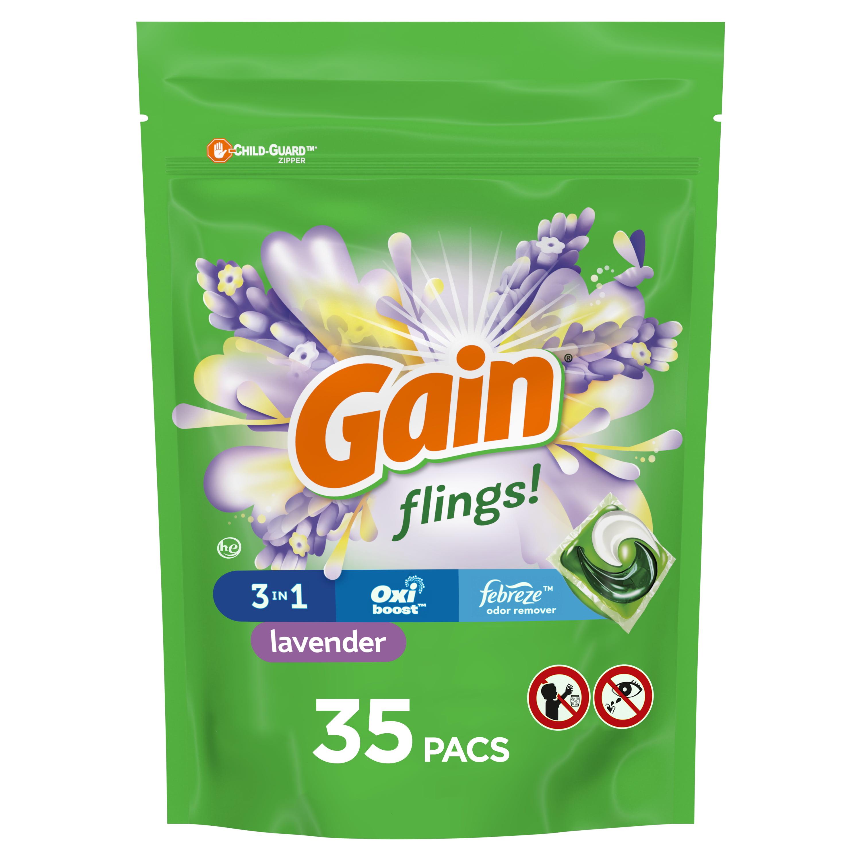Gain Flings Lavender, 35 Ct. Laundry Detergent Pacs