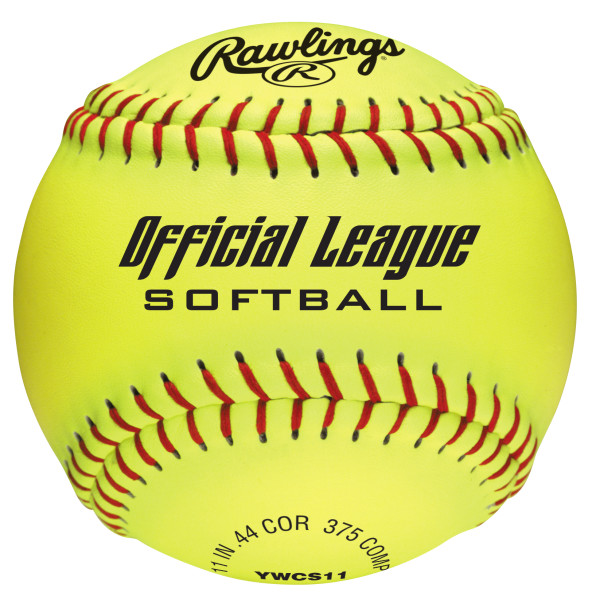 Rawlings Official League 11 inch Dream Seam High Density Cork Core Synthetic Softballs