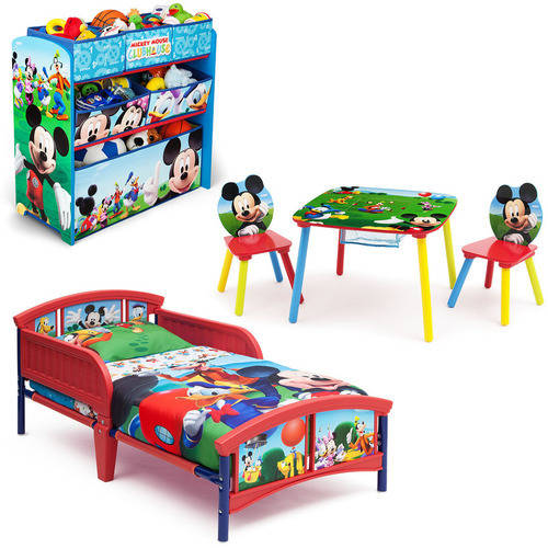Disney Mickey Mouse Bedroom Set with BONUS Toy Organizer