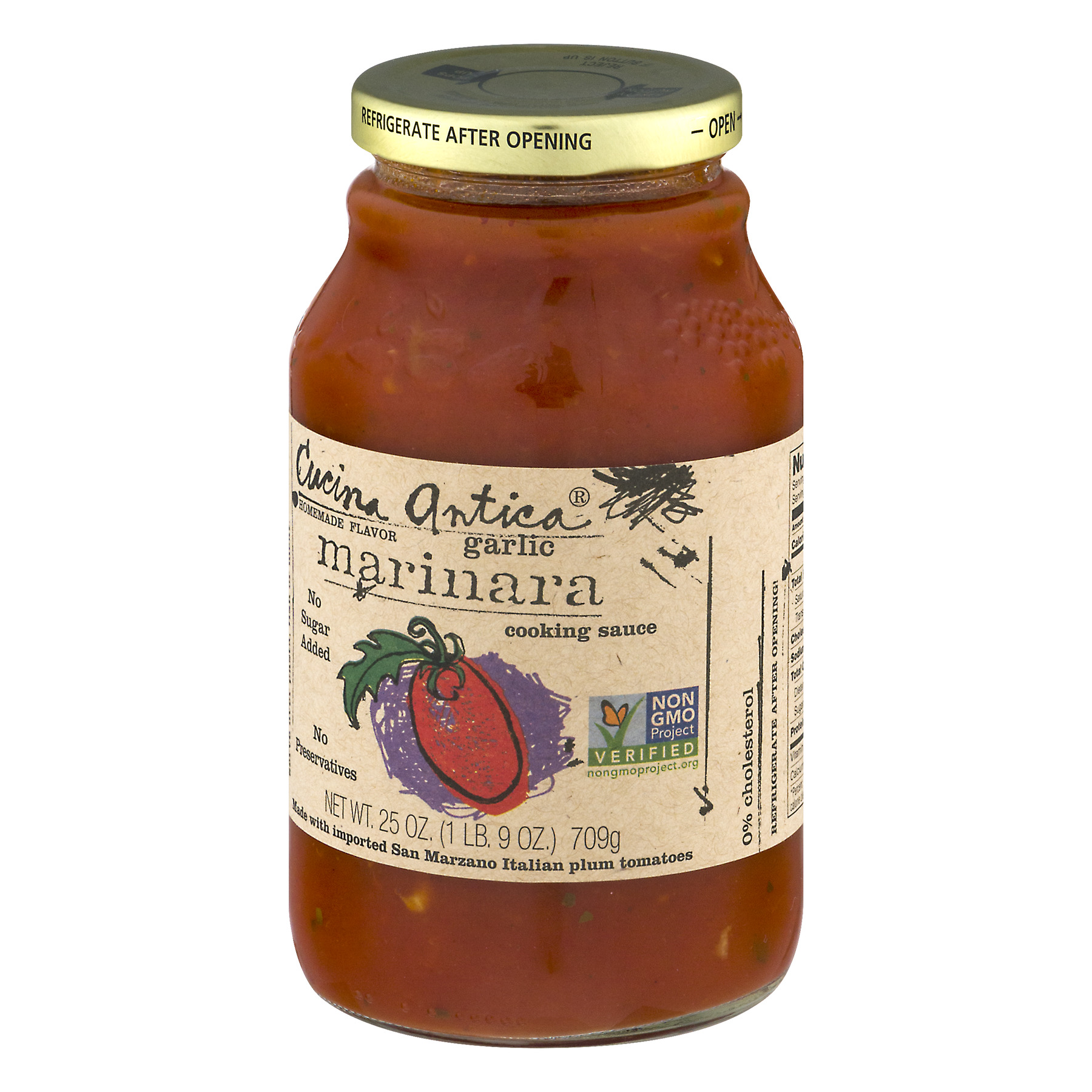 Cucina Antica Garlic Marinara Sauce 12x25 Oz