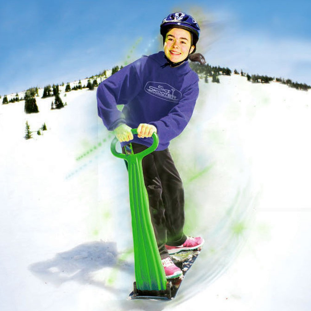 Outdoor Sports Portable Foldable Plastic Snowboard Sled With Armrests for Children & Adults by