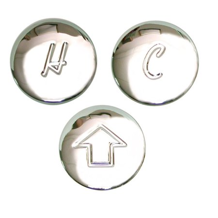 Inset Button (Danco Index Button For Price Pfister Chrome Plated,Polished Chrome Hot/Cold/Diverter)
