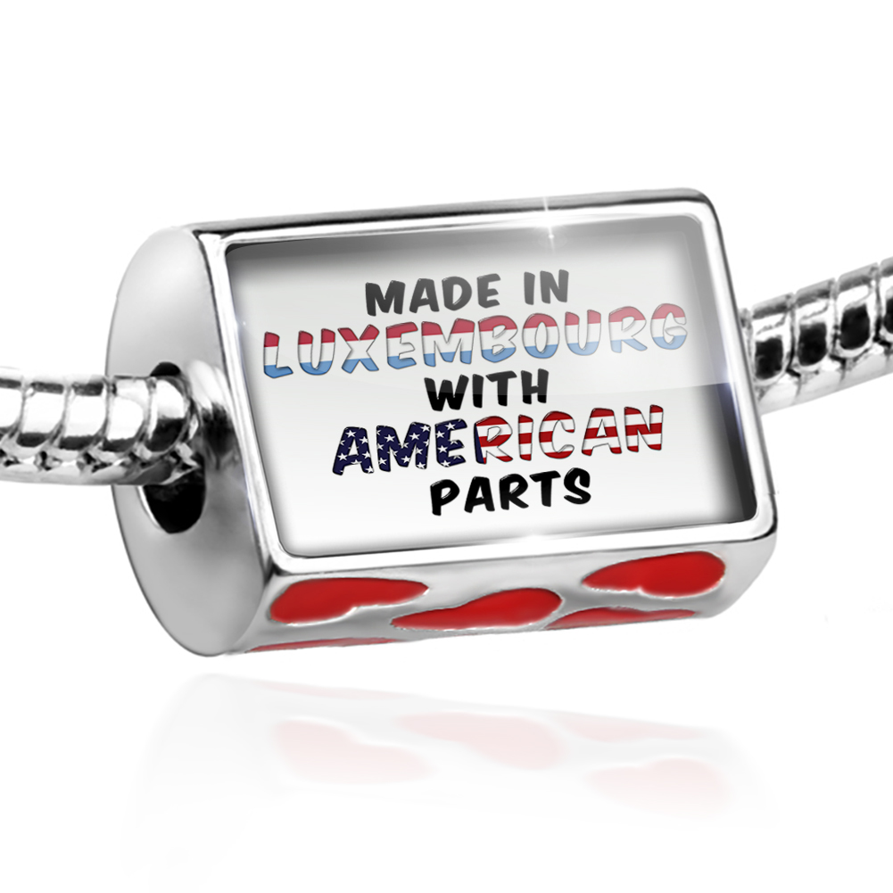 Bead American Parts but Made in Luxembourg Charm Fits All European Bracelets