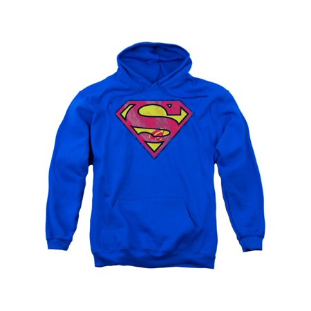 Superman DC Comics Action Shield Adult Pull-Over Hoodie (Superman Suits Over The Years)