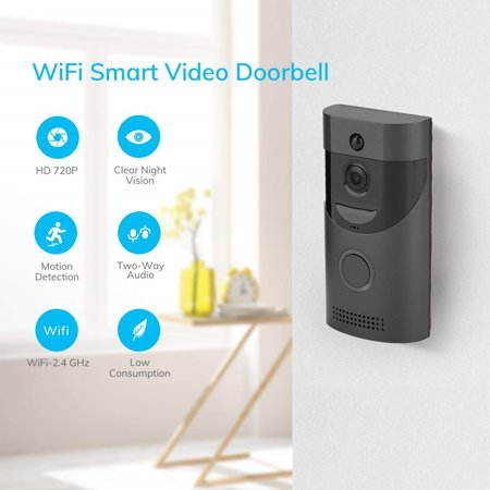 Wireless WiFi Smart Doorbell Video Intercom PIR Detection IR Night Vision for Home Security, Wireless WiFi Doorbell, Wireless Door