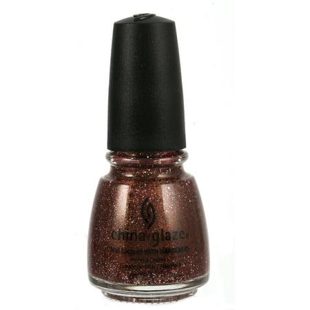 CHINA GLAZE nail lacquer .5 fl oz.- MAHOGANIE