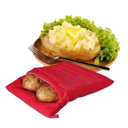 Microwave Potato Bag Baked Baking Red Express Cooker Pack