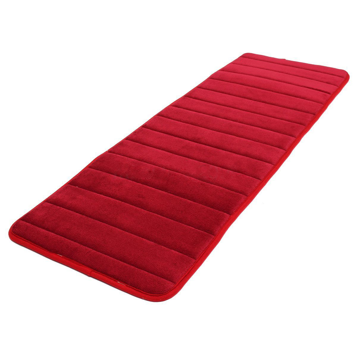 THZY 120x40cm Absorbent Nonslip Memory Foam Kitchen Bedroom Door Floor Mat Rug Carpet Date-red