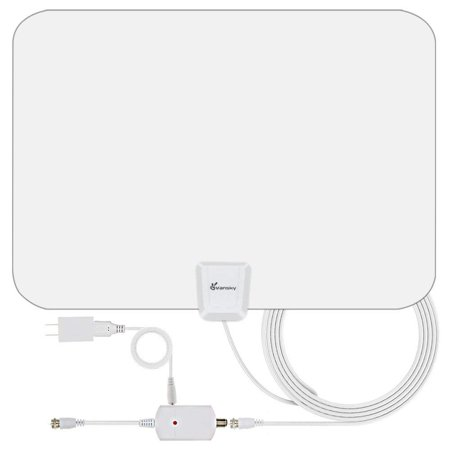 Upgraded 2019 TV Antenna - HD Amplified Digital HDTV Antenna 65-90 Mile w/ Local Broadcast 4K VHF UHF Signal Channels for All TVs with Detachable Amplifier - 16.5feet Coax (Best Lesbian Couples On Tv 2019)