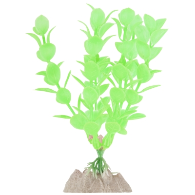 (4 Pack) GloFish Green Fluorescent Aquarium Plant Decoration, Small