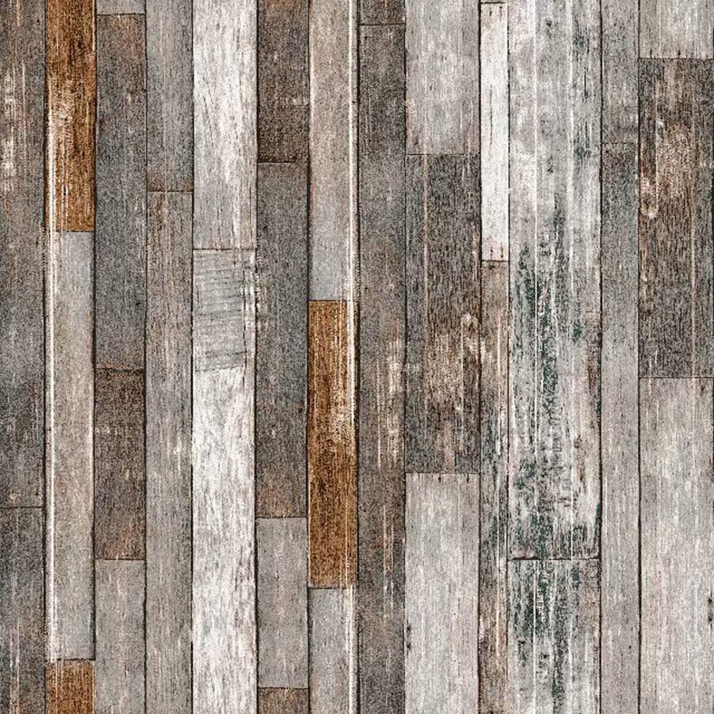Simulation Wood Grain Wallpaper Background DIY Wall ...