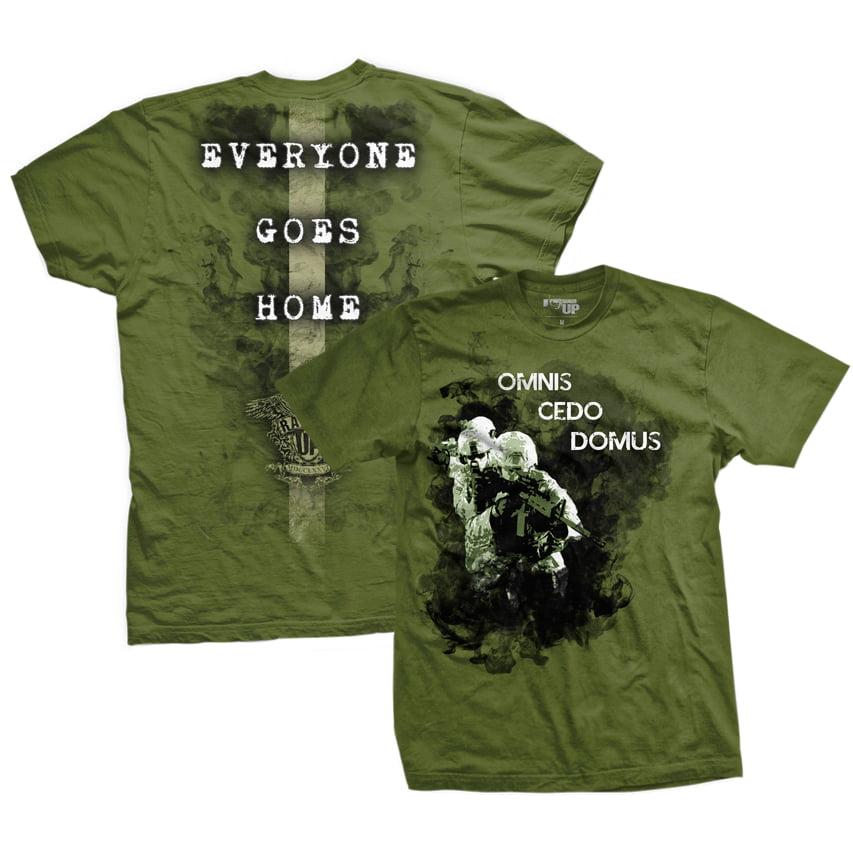 Ranger Up Everyone Goes Home T-Shirt - Green