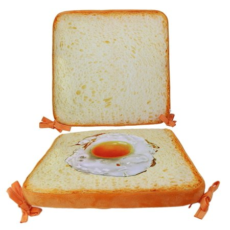 None Pack of 2 Egg Toast Imitation Bread Sofa Seats Cushion for Dogs Cats Pets Kids Funny (Best Dog Breeds To Have With Cats)
