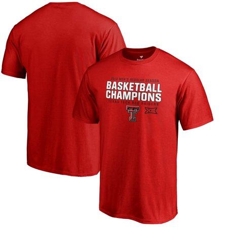 Texas Tech Red Raiders Fanatics Branded 2019 Big 12 Men's Basketball Regular Season Champions T-Shirt - Red (Tech Red Raiders Basketball Jersey)