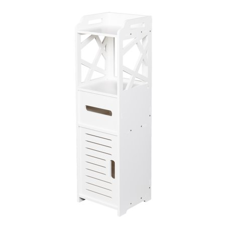White Bathroom Furniture - White PVC Floor Standing Storage Cabinet Bedroom Organizer Furniture Living Room Bathroom Cabinet