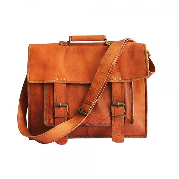Perfect Leather Mens Messenger Women Messenger Leather Bag Brown