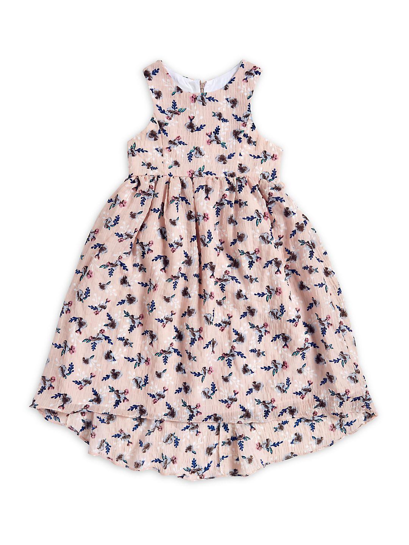Girl's Sleeveless Floral Dress