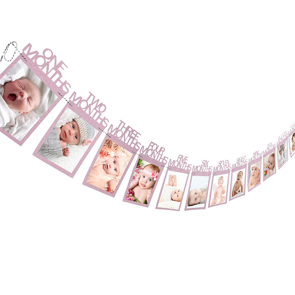 12 Home Decor Gift Ideas From Walmart: Kids Birthday Gift Decorations 1-12 Month Photo Banner