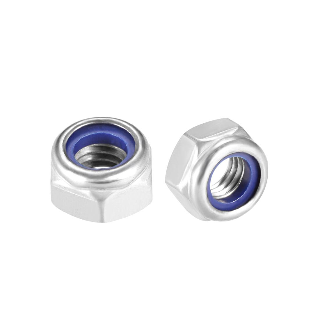 M8 x 1.25mm Nylon Insert Hex Lock Nuts, 316 Stainless Steel, Plain Finish, 4 Pcs - image 3 of 3