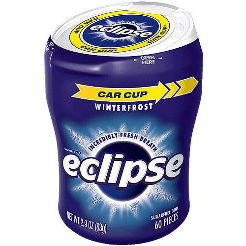 WM Wrigley Jr Eclipse Winterfrost Sugarfree Gum, 60 pc, 2.9 oz