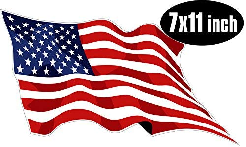 USA American Flag Exterior Decal with UV Laminate Coating Various Sizes