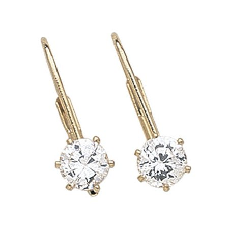 1 Carat Cubic Zirconia Latchback Pierced Earrings