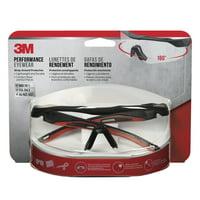 3M Anti-Fog Safety Glasses Clear Lens Black Frame 1 pc.