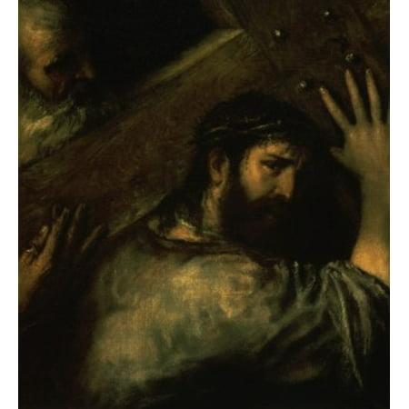 Christ Carrying the Cross  1560 Titian ( 147789-1576 Venetian) Hermitage Museum St Petersburg Canvas Art -  (18 x 24)
