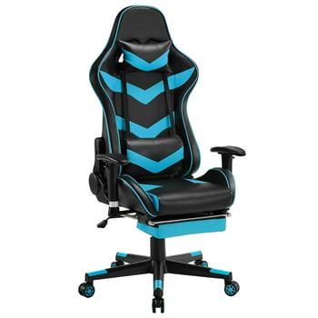 SmileMart Adjustable Ergonomic Gaming Chair with Footrest Backrest