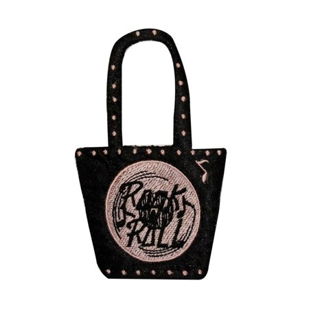 ID 0140 Rock N Roll Purse Patch Handbag 50s Embroidered Iron On Applique
