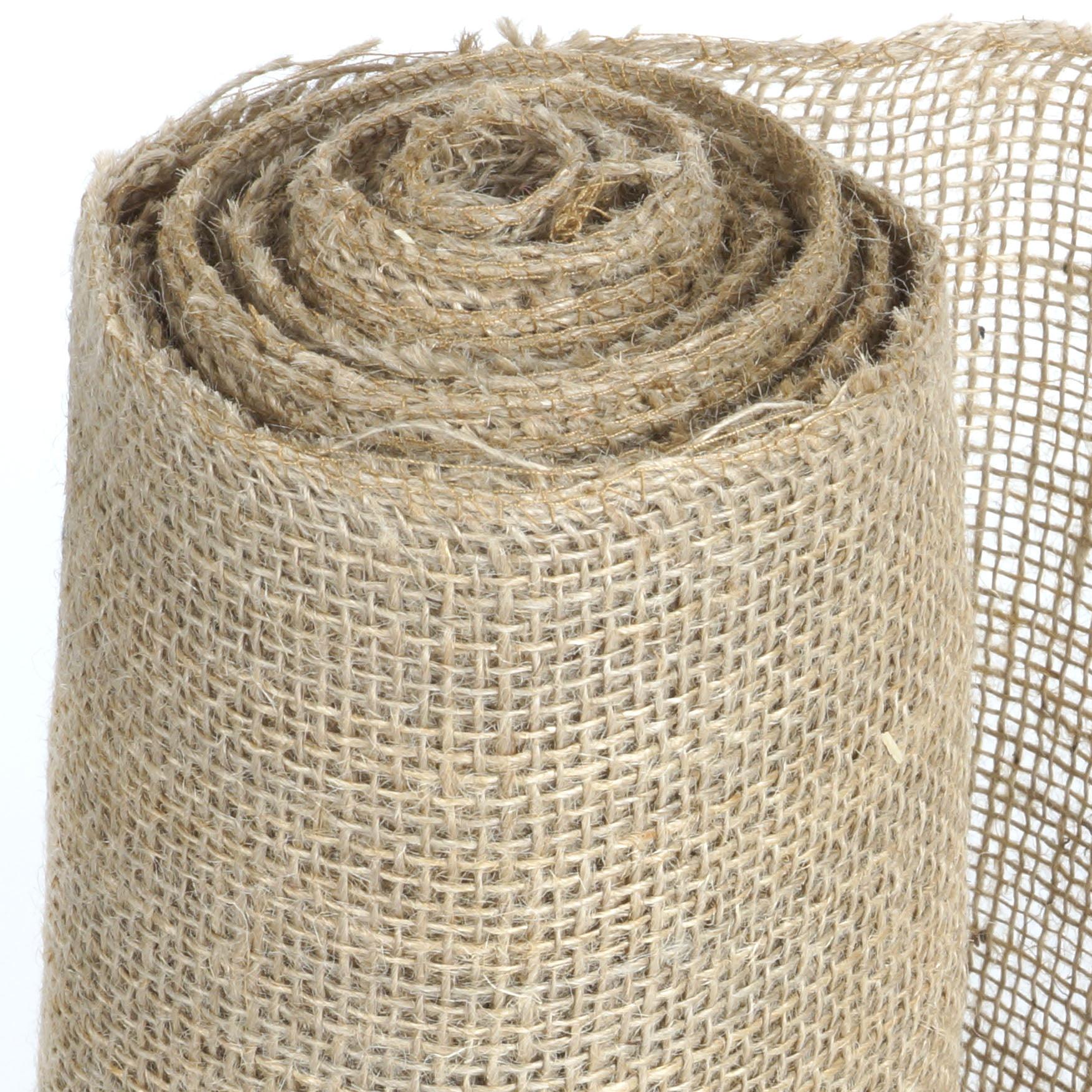 Balsacircle 12 Inch X 10 Yards Natural Brown Burlap Fabric