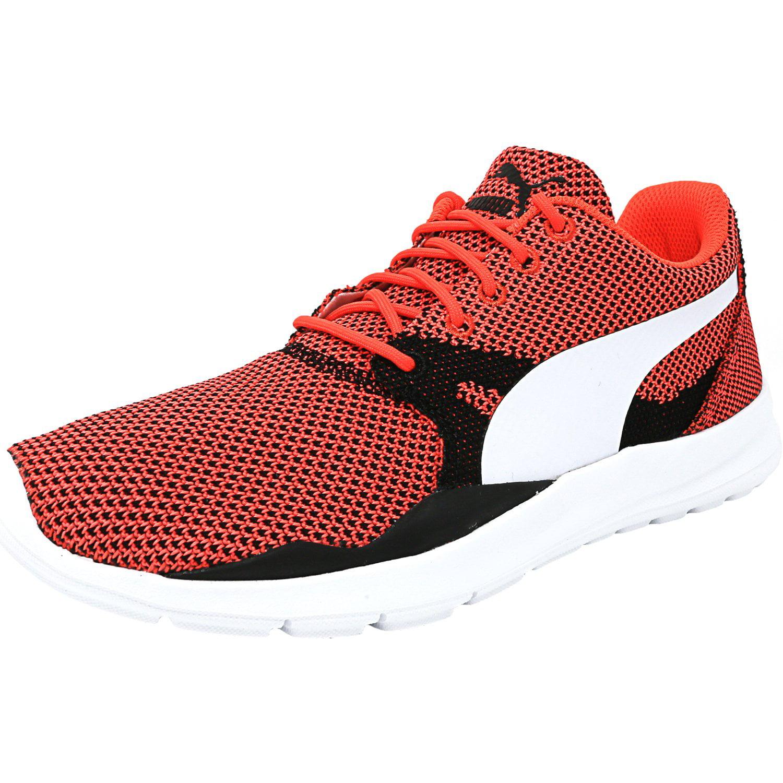 a5d703d0b47d15 Puma Men s Duplex Evo Knit Red Blast   Glacier Gray Fabric Running Shoe - 7M