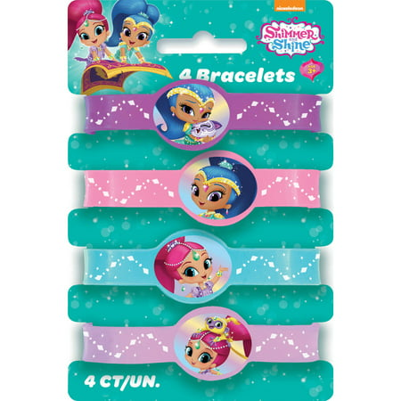 Shimmer and Shine Rubber Bracelet Party Favors, Assorted, - Shine Pool Party Halloween