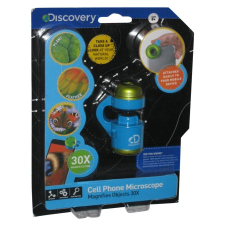 Discovery Kids Cell Phone Camera Microscope Magnifies Objects 30X