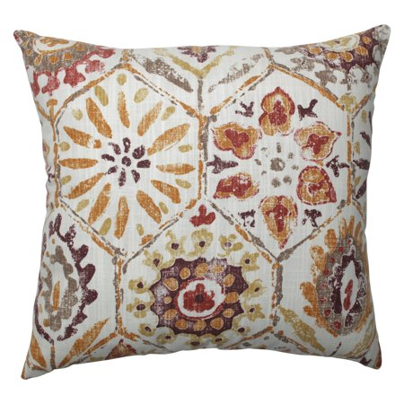 Pillow Perfect Antique Medallion Trellis Square Decorative Throw -