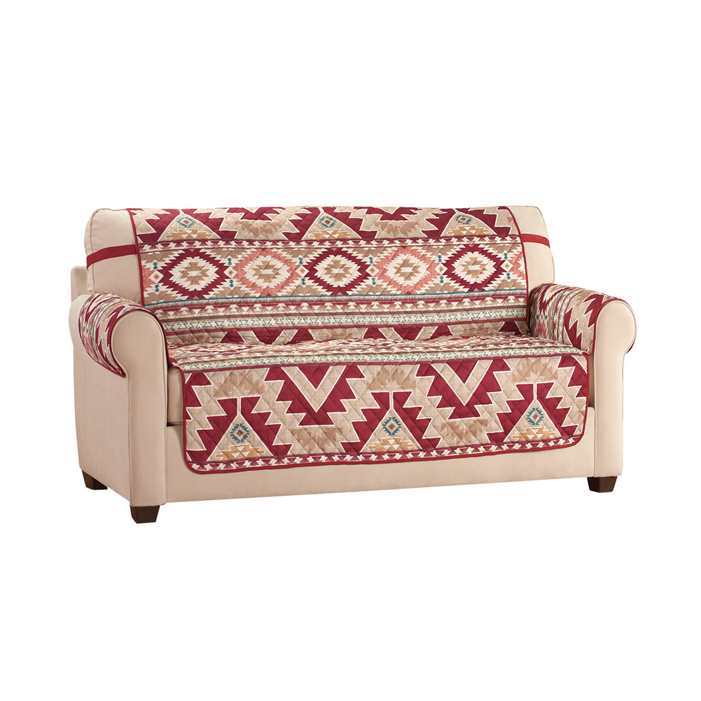 Brilliant Aztec Southwest Patterned Furniture Cover With Bold Aztec Design And Solid Burgundy Reverse Sofa Ibusinesslaw Wood Chair Design Ideas Ibusinesslaworg