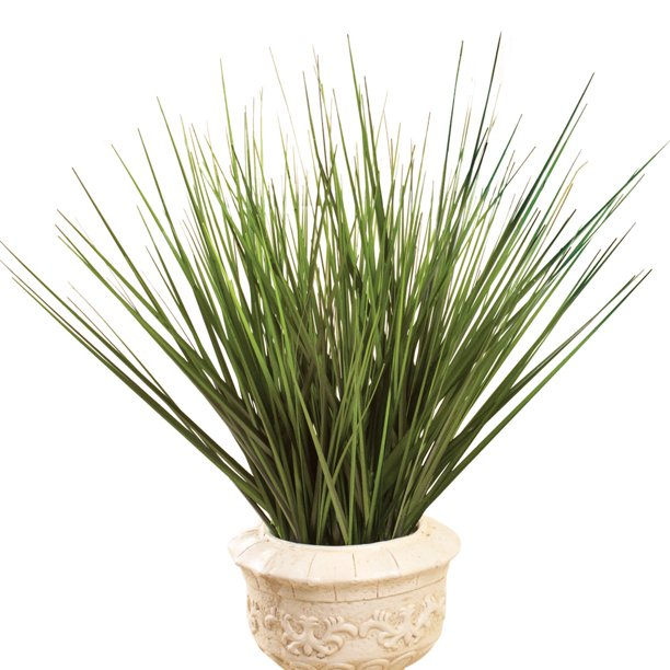 Decorative Grass Bushes Set Of 3 Indoor Or Outdoor Faux Plants