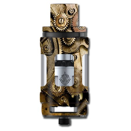 Skin Decal For Smok Tfv12 Cloud King Beast Tank Vape / Steampunk Gears Steam Punk