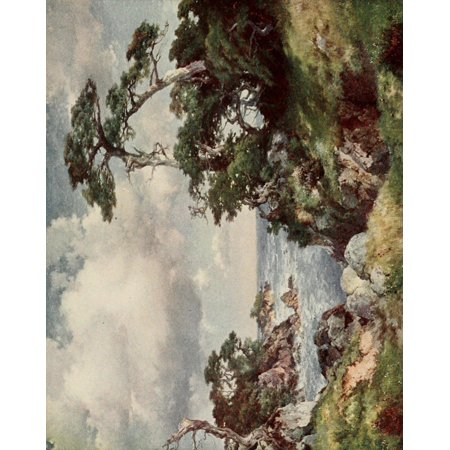 On Sunset Highways 1921 Cypress Point Monterey Stretched Canvas - Thomas Moran (18 x 24)