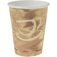 Solo, SCC412MSN0029, Mistique Design Paper Hot Cups, 1000 / Carton, Tan