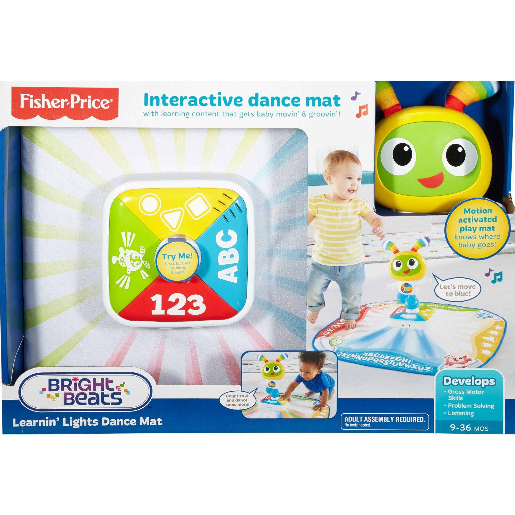 Fisher-Price Bright Beats Learnin' Lights Dance Mat - Walmart.com