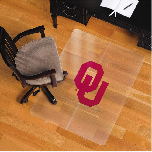 Licensed Oklahoma Sooners Logo Rectangle Chairmat