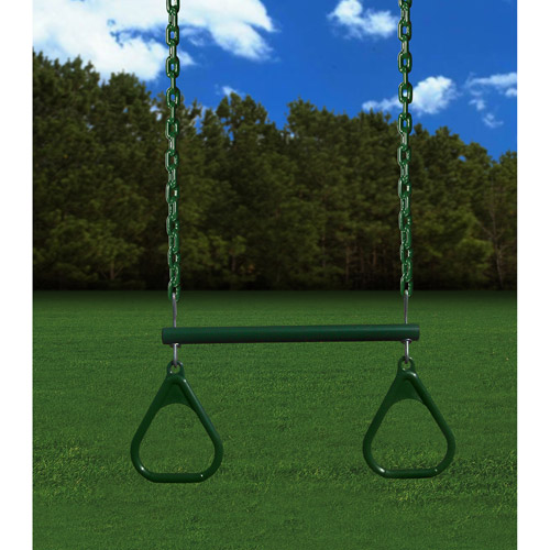 "Gorilla Playsets 17"" Trapeze Swing, Green"