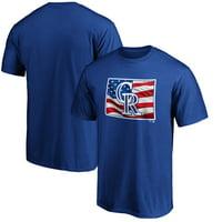 Colorado Rockies Fanatics Branded Team Banner State T-Shirt - Royal