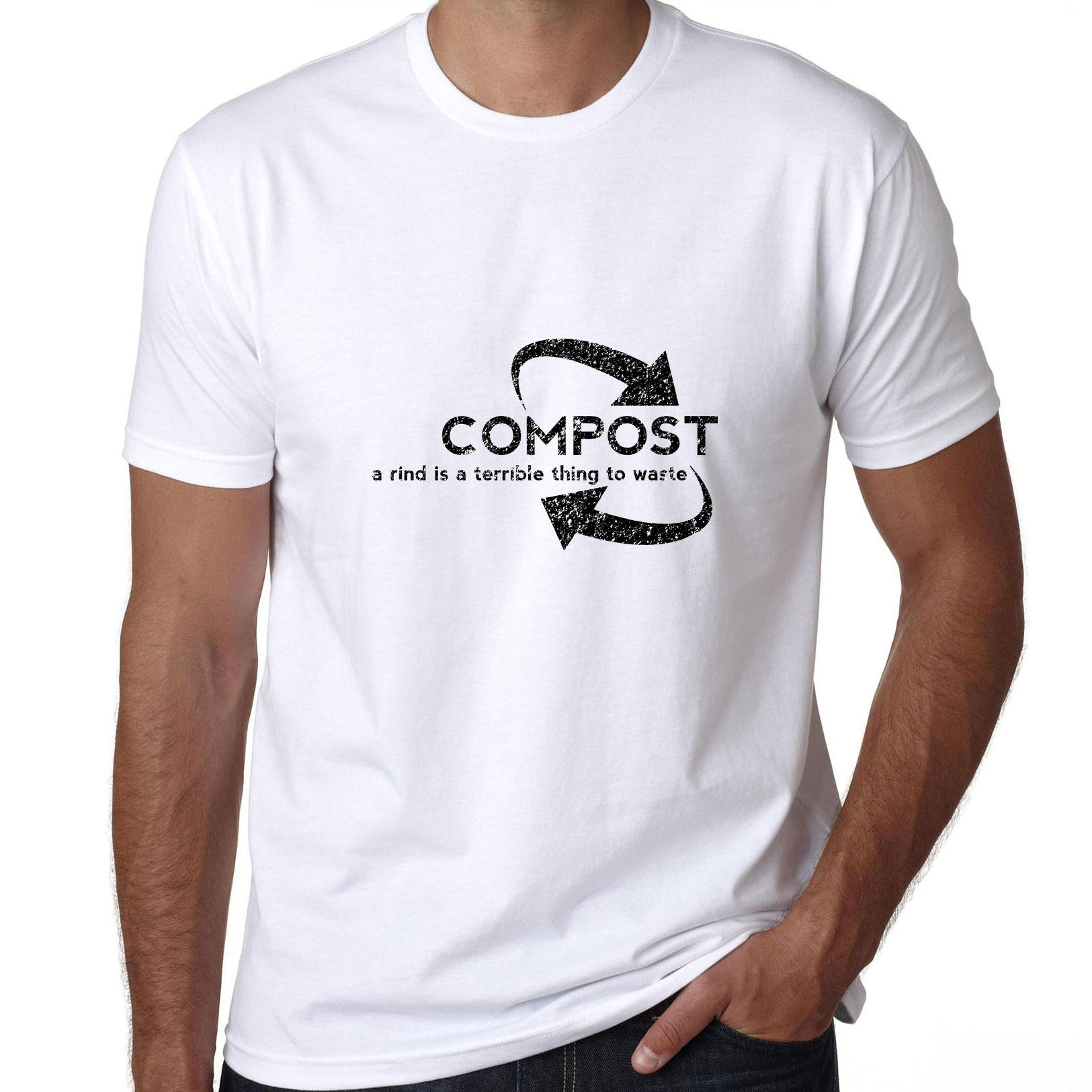 Compost A Rind Is A Terrible Thing To Waste - Recycle Love Men's T-Shirt