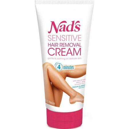 Nad's Sensitive Hair Removal Cream, 5.1 Oz (Best Hair Removal Method For Sensitive Skin)