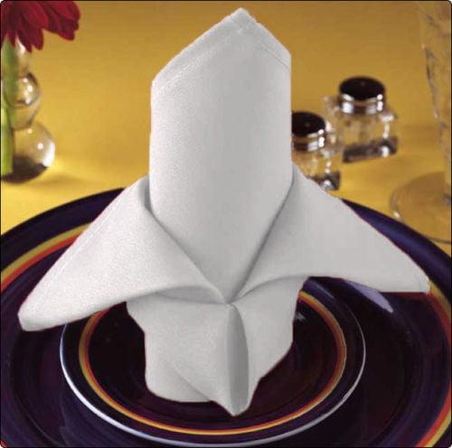 "GHP 100-Pcs White 20""x20"" 100% Cotton Home Restaurant Linen Tableware Dining Napkins"